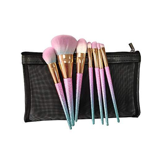 7pcs pinceaux de maquillage arc en ciel coloré forment des pinceaux ensemble correcteur ombre à paupières eyeliner pinceau à sourcils Brosse à maquillage XXYHYQ