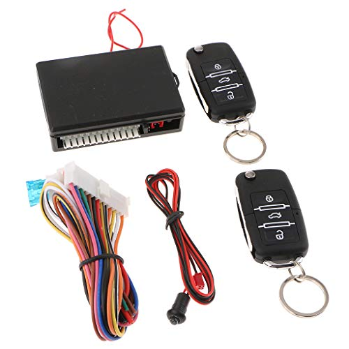 IPOTCH Nuevo Sistema de Entrada Sin Llave Remota Automotriz Kit de Cerradura de Puerta de Coche Teclas Abatibles Indicador LED