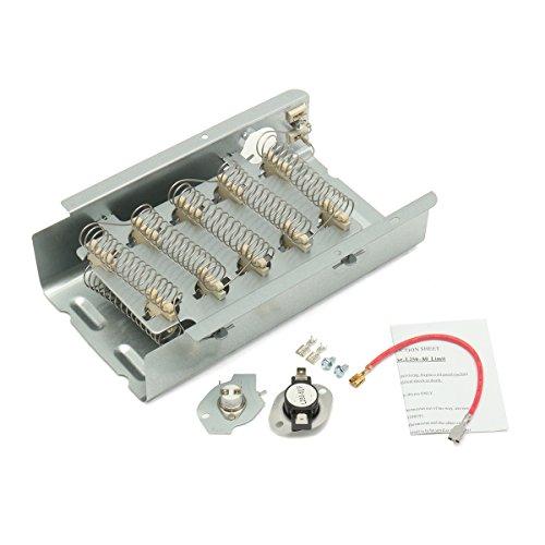 Tutoy 3403585 Secador Elemento De Calefacción Kit De Termostato para Whirlpool Kenmore Maytag Estate
