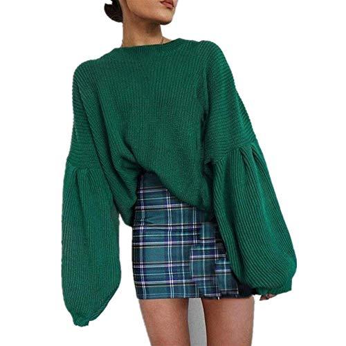 Kabxryaclo Jersey para mujer, blusa holgada y holgada con manga larga para mujer