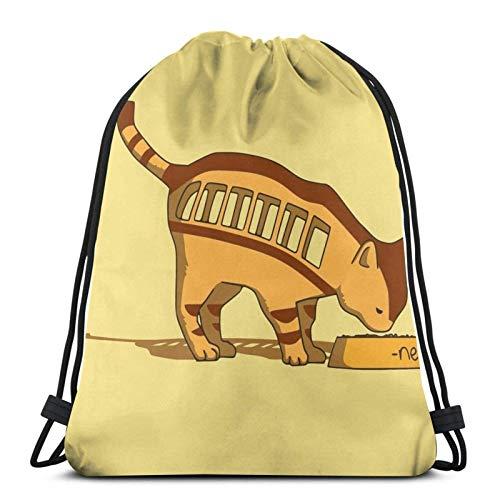 WH-CLA Drawstring Backpack Le Vrai Chat-Bus Irl ! #Ghibli #To-Toro #Fan Art #Neko #Cat #Chat #Irl #In Real Life - Nekobus Irl Men Yoga Sport Gym Sack Travel Sport Bag Printed Drawstring B