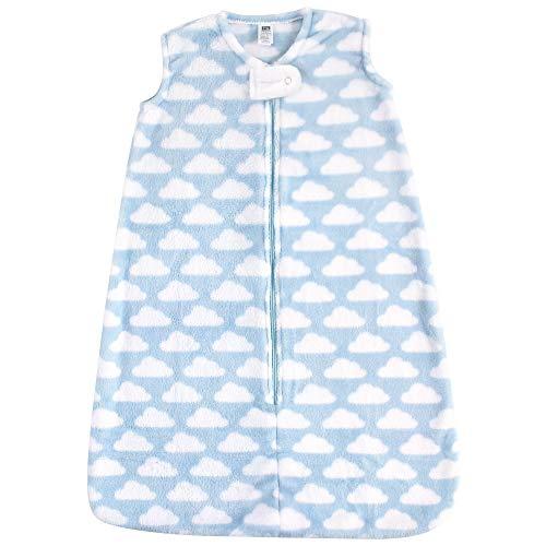 Hudson Baby Unisex Baby Plush Sleeping Bag, Sack, Blanket, Blue Clouds Plush, 12-18 Months