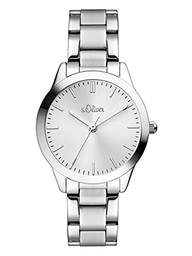 s.Oliver Damen Analog Quarz Uhr mit Edelstahl Armband SO-3438-MQ