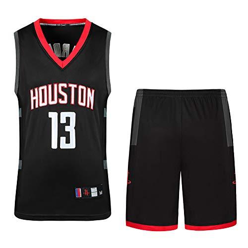 PAOFU-Jersey Camiseta de Baloncesto para Hombre Houston Rockets James Harden # 13 Conjunto de Ropa Deportiva con Bordado de Malla Sin Mangas de Camiseta de Baloncesto