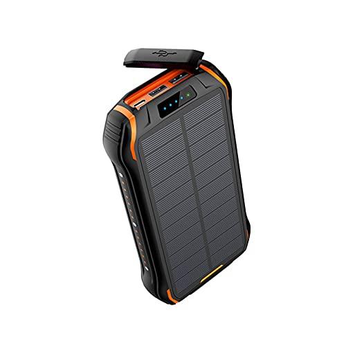 Sol laddare, Utomhus Tri-Test Multi-Function Solar Power Bank 20.000MAH High Power Solar Power Bank/Solpanel med 4-bitars vikbar belysning, 2.1a USB-portar