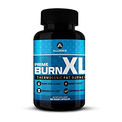 Prime Burn XL Thermogenic Fat Burner Weight Loss and Caffeine Pills, Metabolism Booster and Appetite Suppressant for Men and Women by The Alliance Nutrition