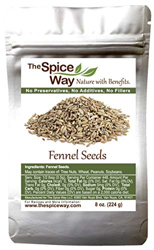 The Spice Way Fennel Seed - bulk whole seeds great for tea and cooking 8 oz