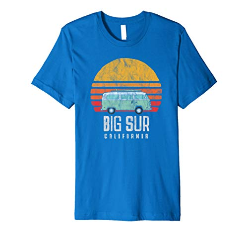 Retro Big Sur California Hippie Van Beach Bum Surfer Premium T-Shirt