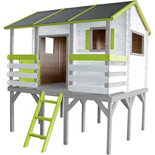 SOULET Spielhaus Romane mit Podest + Vorraum Garten Holzhaus Kinder Stelzenhaus