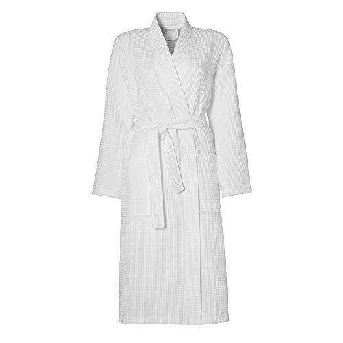 Damai Seahorse - wafle Kimono - badjas - wit - maat L
