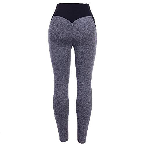 4-way stretch yoga-legging,Dames yogabroek, katoenen dames yogabroek-Black_M,Dames Sexy casual herfst losse tops met lange mouwen