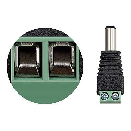 3 Stück 5,5 x 2,1mm DC Buchse Kupplung Buchseverbinder mit Schraubklemmen