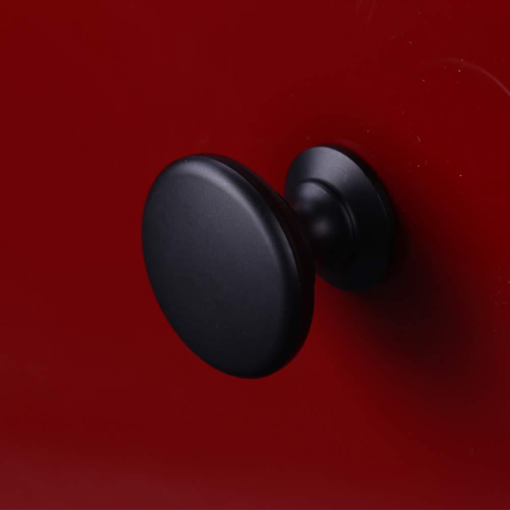 SUNSHINETEK Perillas de gabinete negras 10 pcs Matted Mushroom Round Knobs Knobs Tiradores de puerta de aleación de aluminio de 30 mm con tornillos para la cocina de cajón de gabinete: Amazon.es: