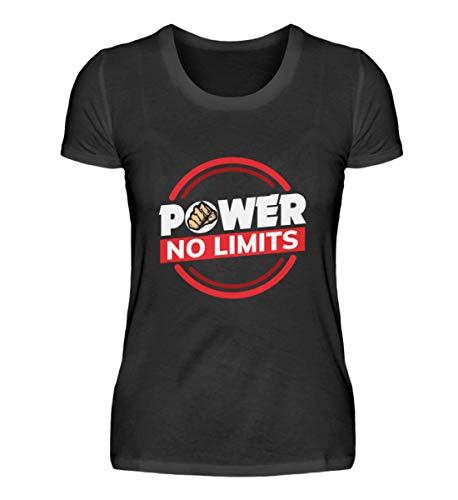 Power Fitness Bodybuilding Kraftsport Motiv - Lustig Spruch Studio Workout Geschenk Cool - Damenshirt -XL-Schwarz