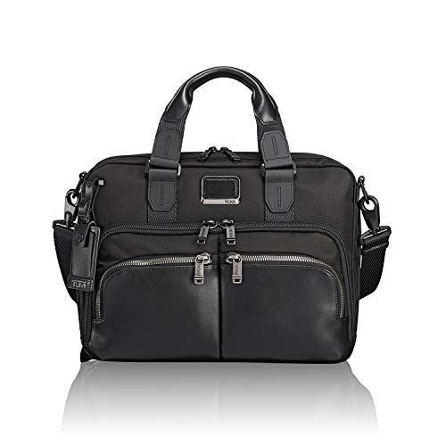 Tumi Alpha Bravo - Albany Slim Commuter Brief 14' Aktentasche, 37 cm, 12.17 L, Black