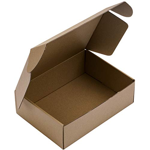 """BIOBROWN Corrugated Box Cardboard Box Perfect for Shipping Mailing Small - 9"""" x 6 1/2"""" x 2 3/4"""" - 25 Pack - Kraft"""