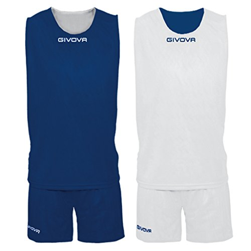 Givova Double Kit Basket, Blu/Bianco, S