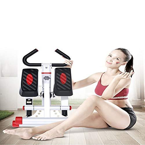 Tensism Foldable Stepper,Adjustable Armrest Stepper,Multi-Function Stepper,Sports Weight-Loss Hydraulic Stepper,Fitness Equipment B 6