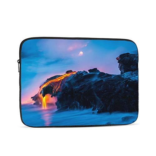 Bolso de la manga del ordenador portátil belleza natural volcán lava Tablet maletín ultraportable lona protectora para