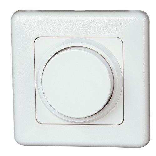 Kopp Dimmer mit Dreh-Ausschalter (Phasenanschnitt), Komplettgerät, artis-weiß, 803202012
