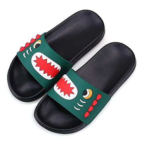 Pantofole estive per Bambini Pantofole da spiaggia e piscina per ragazzi Pantofole da bagno morbide antiscivolo sandali verde 37 EU