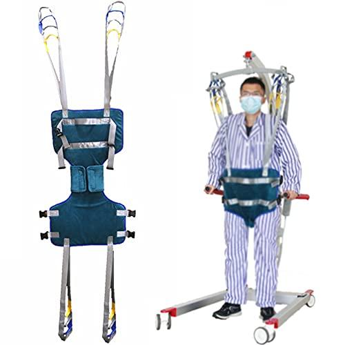 YNITJH Arnés Elevación Paciente Cuerpo Comple,Cinturón De Transferencia De Ayudas para Caminar De Pie,Entrenadores De Piernas Ejercicio Muslo Cadera Soportes Lumbares,Large
