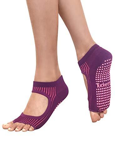 Yoga-Socken für Frauen, rutschfest, ohne Zehen, rutschfest, für Pilates, Barre, Ballett (Allegro-Stil) - - Einheitsgröße