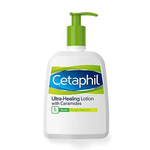 Cetaphil UltraHealing Lotion with Ceramides for Dry Rough Flaky Skin 16 oz Bottle
