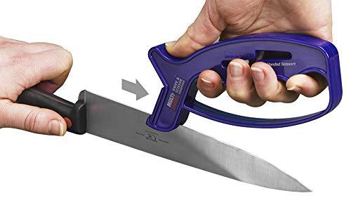 MULTI-SHARP 1901 Couteau Multi-usages et aiguiseur de Ciseaux 2-en-1, pour Couteaux, Ciseaux, couperets et Lames Ultra tranchants