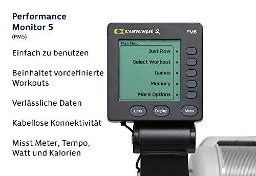 Concept2 Modèle D Rameur avec écran PM5 Gris