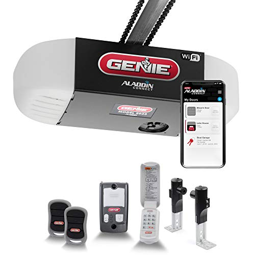 Genie ChainGlide Connect – WiFi Smart Garage Door Opener with Added Wireless Keypad, ½ HPc Smart Chain Drive, Quiet Performance – Compatible with Alexa and Google Assistant – Model 2033-TKV