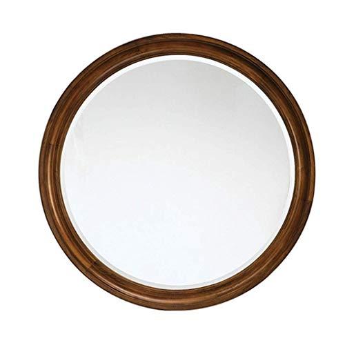 Household Necessities/rond bruin, spiegel van massief hout, spiegel van massief hout, inclusief spiegel 68.5X68.5CM Bruin