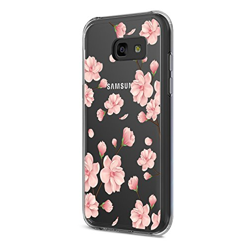 Neivi Compatible with Hülle Samsung Galaxy A3 2017 Schutzhülle Durchsichtig Silikon Silikonhülle Transparent TPU Bumper Schutz Handytasche Handyhülle Schale Case Cover für A3 (Blume5, Galaxy A3 2017)