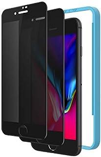 覗き見防止 NIMASO ガラスフィルム iPhone SE 第2世代 用 (2020) / iPhone8 / 7 用 全面保護フィルム ガイド枠付き ブラック