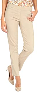 Women's Wide Band Pull on Straight Leg Pant with Front...