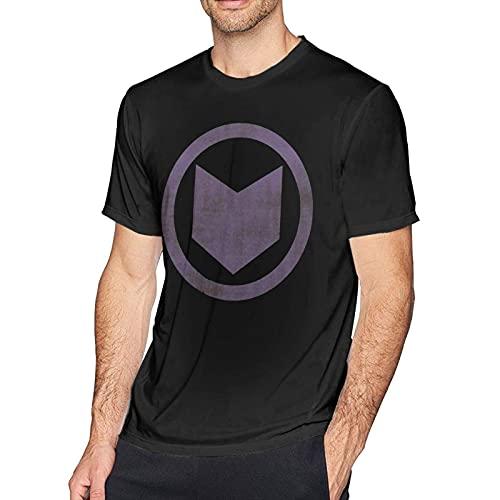 DJNGN Camiseta de Manga Corta con Cuello Redondo y Cuello Redondo a la Moda para Hombre con Icono Desgastado