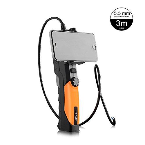 [Sottile 5,5 mm Diametro] Shekar 2,0 Megapixel WiFi Telecamera Endoscopio Periscopico Ispezione Palmare Impermeabile con Tubo Rigido 3M per IOS, Android, IPhone, IPad, PC e Portatile