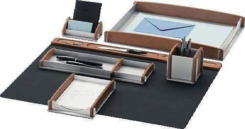 Rumold Schreibtisch-Set Buche/Aluminium 6-teilig
