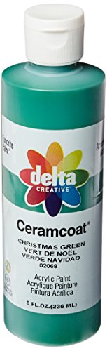 Delta Creative Ceramcoat Acrylic Paint in Assorted Colors (8 oz), 020688, Christmas Green