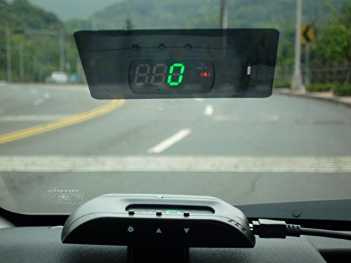 GPS HUD Universal Head-Up Display with Speedometer Km/h,MPH - Dashboard Windshield Projector with Color Display - Overspeed Warning Alarm - Perfect for all Cars, Buses, Trucks - Quick and Easy installation