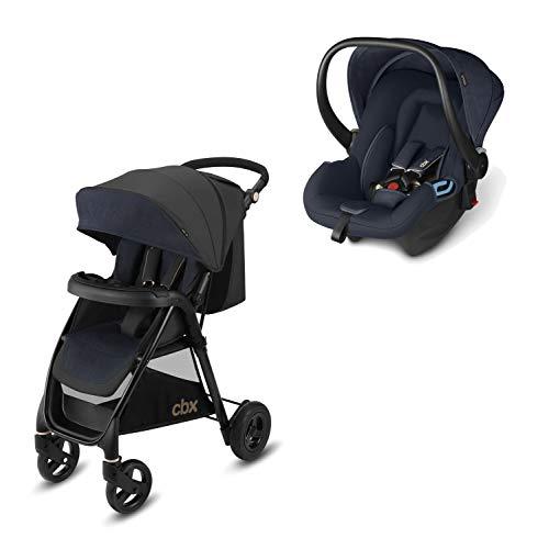 cbx 2-in-1 Reisesystem, Kinderwagen Misu Air TS + Babyschale Shima, Inkl. Regenverdeck und Adapter für Babyschale, Ab Geburt, Jeansy Blue