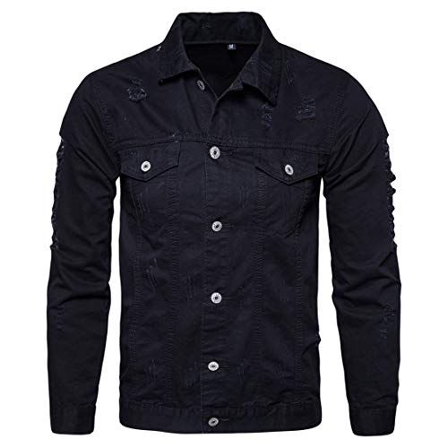 NLZQ Men's Coat Casual Daily Wear Sweatshirt Lightweight Long Sleeve Solid Color Slim Fit Button Jacket Spring, Autumn and Winter New Comfortable All-Match Fashion Tooling Coat XXL