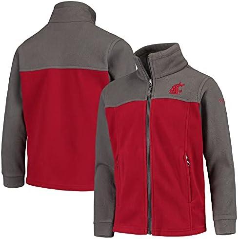 NCAA Washington State Cougars Youth Flanker II Full Zip Fleece, XXS - Crimson/Gray
