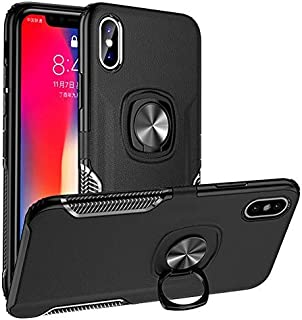 iP Xs Case Ring Compatible With Apple iPhone X Phone Cover Ring Magnetic iPhonex 10xs Xphone Bumper Kickstand iPhe 10s Sx Coque 5.8 Inch (Black)
