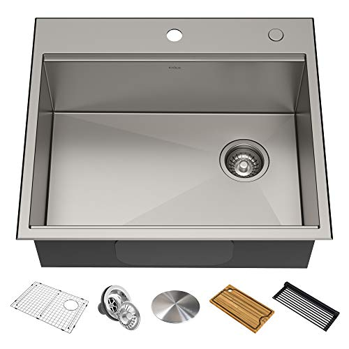 KRAUS KWT311-25 Kore Workstation Stainless Steel Kitchen Sink