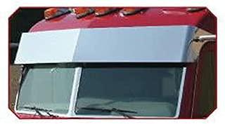 10.5 Inch Stainless Steel Drop Visor Fits Peterbilt 378/379/389