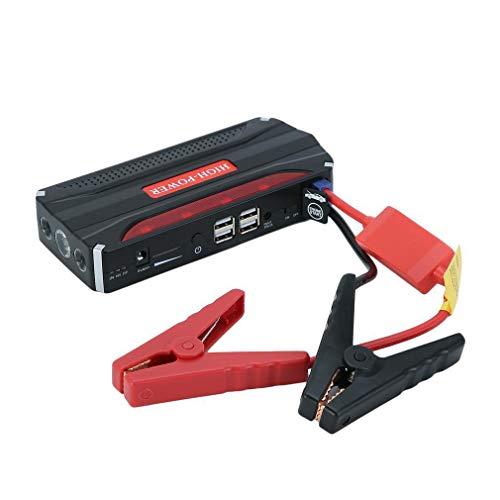 Dalkey123 Auto Starthilfe 12V 68800mAh Tragbare starthilfegerät, Starthilfe Powerbank und Starthilfekabel für bis zu 5-Liter-Benzin- und 2-Liter-Dieselmotoren