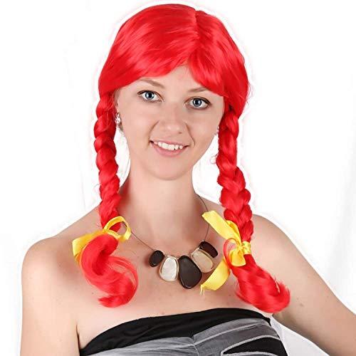 pruiken Paars groen gele pruik zwart rood Halloween Celebrity Festival nep carnaval