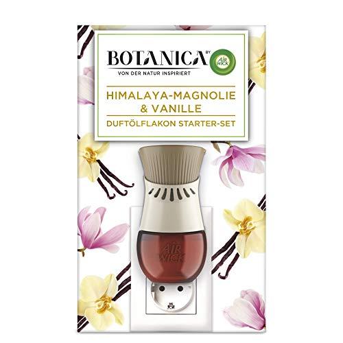 Botanica by Air Wick Duftölflakon Starter-Set – Mit Duftstecker und Dufölflakon für die Steckdose – Duft: Himalaya-Magnolie & Vanille – 1 x Gerät & 1 x Nachfüller