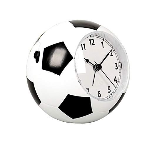 OMYLFQ Reloj de Mesa Mute de fútbol Pequeño Despertador Moda Personalidad Infantil Música Mesita...